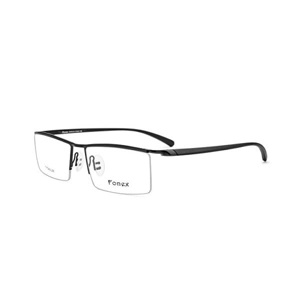 FONEX TR90 Square Glasses Frame Men Prescription Eyeglasses Women ...
