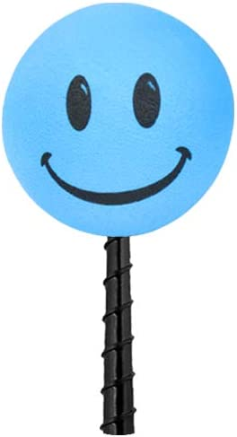 Fits Thick Fat Style Antenna Tenna Tops Happy Smiley Face Car Antenna Topper//Mirror Dangler//Desktop Spring Stand Baby Blue