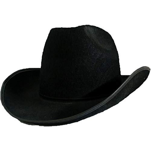 MA ONLINE - Sombrero Unisex Estilo Wild Oeste Negro de Vaquero para  Adultos 972e24b5710