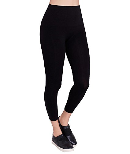 ASSETS Red Hot Label by SPANX Capri Shaping Leggings, M, Black