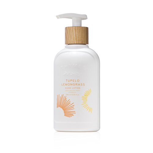 (Thymes - Tupelo Lemongrass Hand Lotion with Pump - With Moisturizing Shea Butter, Vitamin E, and Citrus Scent - 8.25)