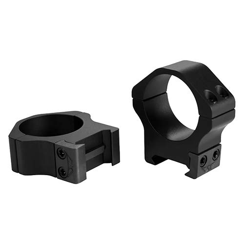 Warne Scope Mounts Maxima Horizontal Rings, Fits Picatinny & Weaver Style Bases, 30mm High, Matte Fi