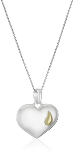 "Sterling Silver ""Until We Meet Again"" Reversible Heart Pendant Necklace, 18"""