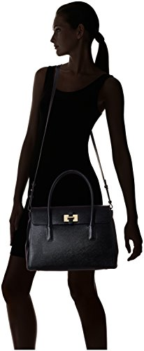 Le Tanneur Nina Tny1600 - Bolso de asas para mujer Negro negro Taille Unique