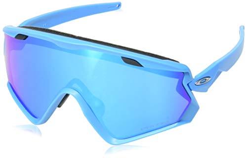 - Oakley Men's Wind Jacket 2.0 Non-Polarized Iridium Rectangular Sunglasses, Matte Sky Blue, 0 mm