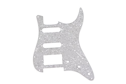 ACE-HK Electric Guitar Pickguard, for Strat, S-S-H, Mother of Pearl, 1 Pc, with Mounting Screws by ACE-HK