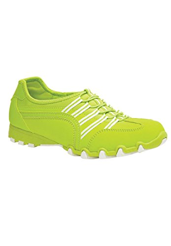 Bargain Catalog Outlet Comfortview Plus Size Tory Elastic Lace Sneaker (Fresh Lime,9 - Tory Outlet