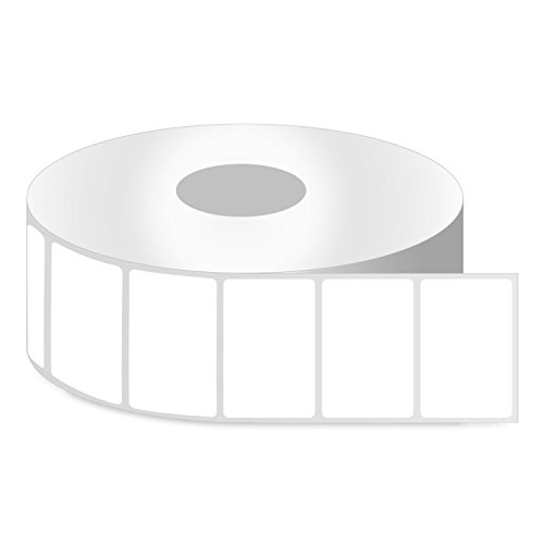 OfficeSmart Labels ZR1112100-1.5 x 1 Inch Removable Direct Thermal Labels, Compatible with Zebra Printers (4 Rolls, White, 1380 Labels Per Roll, 1 inch Core)