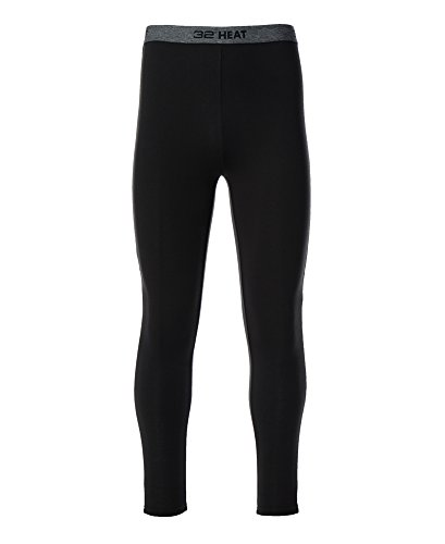 32 Degrees Men's Heat Performance Mesh Legging Black Medium