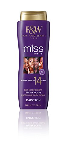 Fair & White Miss White Lightening Body Lotion in 14 Days for Dark Skin, with 1.9% Hydroquinone 500ml / 17.6fl.oz.