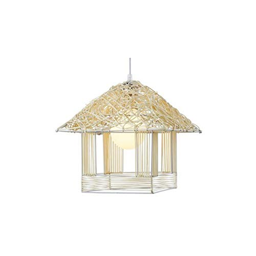 - GL-63840-1, Natural Rattan Knitted Pendant Light Fixtures, Coastal Beach Hand-Woven Rattan Chandelier, Suspension Lamps for Bedroom Hallway Balcony True Color