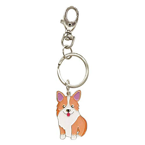 Feb.7 Welsh Corgi Dog Keychain Keyring- Bag Charm -Gifts for Dog Lover