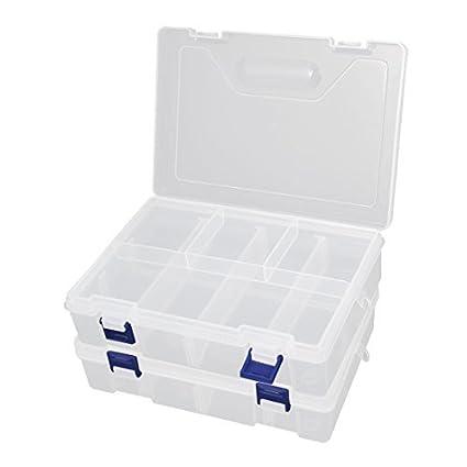 Desmontables 8 Rejilla 2 capas tornillos de los componentes electrónicos caja 2 de las PC