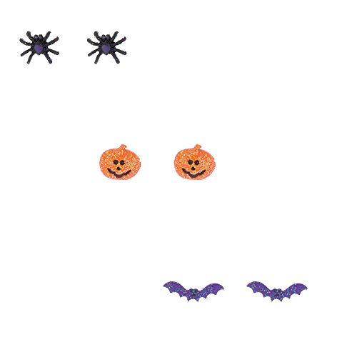 Claire's Halloween Stud Earrings 3 Pack Fun Spooky Hallows eve ()