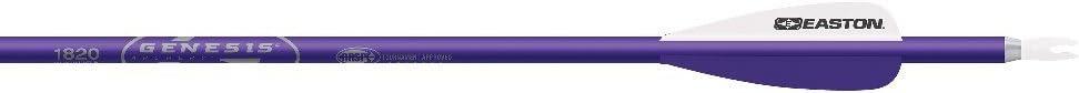 """Easton Genesis V2 Arrows with 3"""" Vanes (6 Pack), 1820, Purple"""