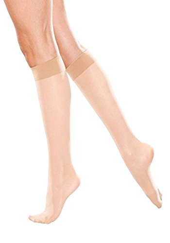 (Therafirm Women's Sheer Knee Highs with Mild (15-20mmHg) Compression (Natural,)