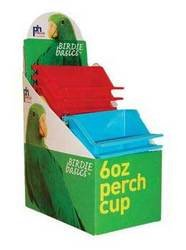 Prevue Pet Products BPV1265 12-Pack Birdie Basics Perch Cup with Display Box, 6-Ounce, Colors Vary