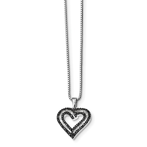 Pen Personalized Sterling Silver Jewelry - ICE CARATS 925 Sterling Silver Black White Diamond Heart Pendant Chain Necklace Charm Love Fine Jewelry Ideal Gifts For Women Gift Set From Heart