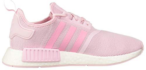 adidas Originals Unisex NMD_R1 Running Shoe Clear Shock Pink/White, 3.5 M US Big Kid by adidas Originals (Image #6)