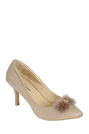 c4cd8628020 Image Unavailable. Image not available for. Color  Ladies fashion one inch  heeled shoe ...