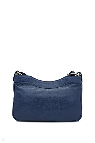Balenciaga Damen Schultertasche 242803D94IG4222 Blau Leder wFAqzFXx
