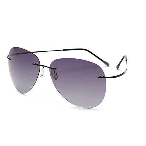 4d87e3697b JOMYY NEW Ultralight Square Titanium Polarized Sunglasses Rimless Driving  Aviation Sun Glasses Oculos De Sol UV400