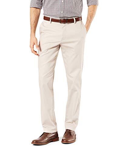 Stretch Cotton Khakis (Dockers Men's Slim Tapered Signature Khaki Lux Cotton Stretch Pants, Cloud, 32W x 30L)