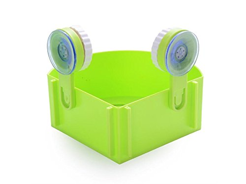 Hezon Suction Wall Corner Sector Suction Cup Corner Rack Triangle Shelf Green EASY TO USE by Hezon
