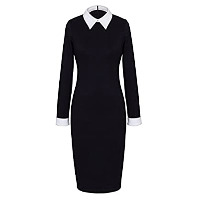 HOMEYEE Women's Celebrity Turn Down Collar Business Bodycon Dresses at Women's Clothing store