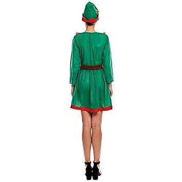 Disfraz Duende Elfa de Navidad para Mujer Adulto (Talla S ...