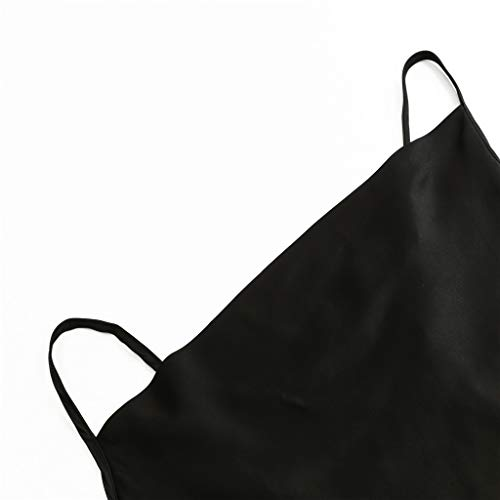 Dainzuy Sexy Women's Silk Tank Top Spaghetti Straps Camisole Silky Loose Sleeveless Blouse Elegant Cowls Tank Shirt Black by Dainzuy Women Tops (Image #5)