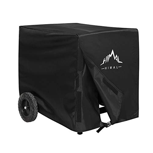 Himal Weather/UV Resistant Generator Cover 32 x 24 x 24 inch,for Universal Portable Generators 5000-10,000 Watt, Black