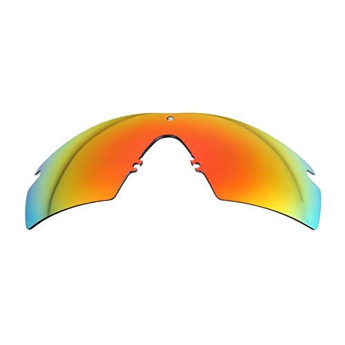 (NicelyFit Polarized Replacement Lenses for Oakley Si Ballistic M Frame 2.0 Sunglasses (Fire Red Mirror))