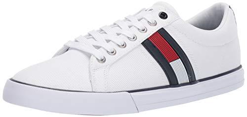 Tommy Hilfiger Men's Pally Sneaker, White, 9.5 Medium US