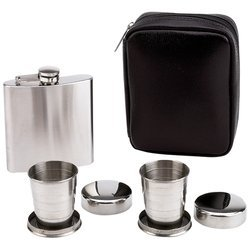 BF Systems KTFLSKCP Flask with Collapsible Cup, 6 oz - Alcohol Drinking Accessories