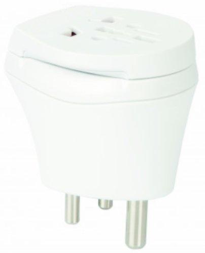 2x Adaptador de viaje–Mundo combinado–Conector adaptador de corriente de viaje adaptador para Dinamarca en Mozambique para enchufes con enchufe, Euro, 2Pol y 3pines corriente enchufe–D