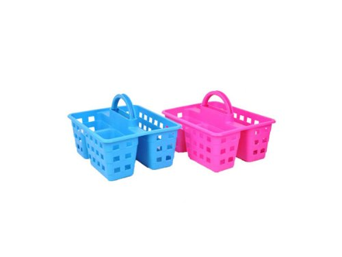 PORTABLE SHOWER CADDY, ASSORTED COLORS plastic Bath Caddies Bed ...
