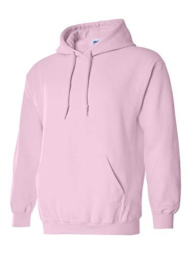 Hooded Pullover Sweat Shirt Heavy Blend 50/50 - Light Pink 18500 L (Pullover Hoodies Pink)