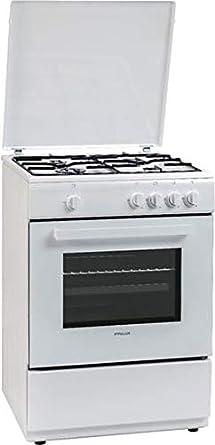 Finlux FXGC66 - Cocina de gas 4 fuegos con horno de gas 60 x 60 ...