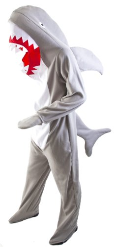 Adult Shark Costume STD, Size Large