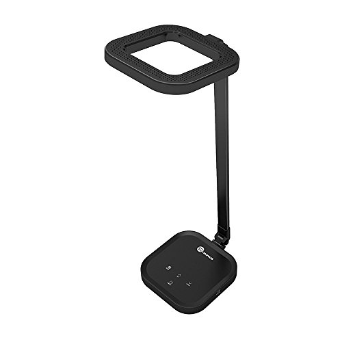 Schreibtischlampe LED TaoTronics Tischlampe Tischleuchte mit 3 Lichtmodi, 5 dimmbaren Stufen, intelligenter Speicherfunktion, praktischem USB-Ladeanschluss und originellem, innovativem Design-Schwarz