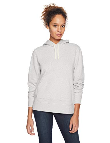 Amazon Essentials Women's French Terry Fleece Pullover Hoodie Sweater, -light grey heather, X-Large