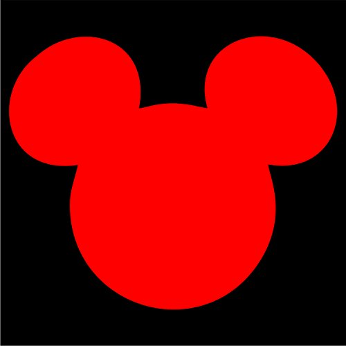 Mouse Mms - Mickey Mouse Die Cut Premium Vinyl Decal - Red 4