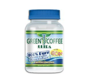 Green Coffee Ultra: 100% PURE Green Coffee Bean Extract with GCA (1 bottle) by Green Coffee Ultra
