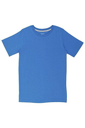 French Toast Little Boys' Short Sleeve Crew Neck Tee Shirt, French Blue, 5