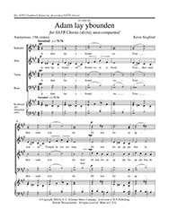 Adam lay ybounden Sheet Music ()