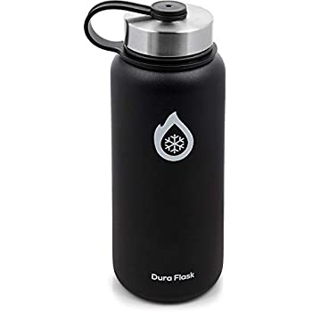 a93949e2f4 DuraFlask Explorer Double-Wall Vacuum Insulated Water Bottle (32oz) w/3  Thermal Optimizing Layers - Copper Dipped & 18/8 Stainless Steel Water  Bottle Keeps ...