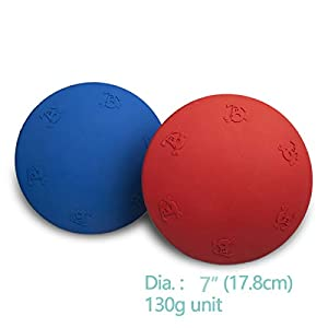 Ideal Enjoy Dog Flying Disc Toy,Rubber Dog Frisbee,2 Pack(1 Bule,1 Red) 24