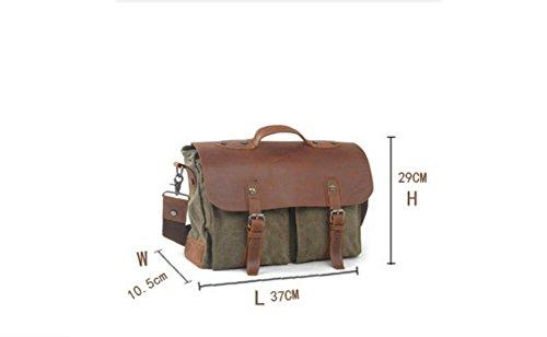 59f9101bea108 Reisetasche Leinwand Tuch Tasche Vintage Schulter tragbar Reisetasche  Crossbody Laptop Tasche Casual Herren Tasche für Macbook ...