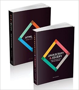 Book cover from Web Design with HTML, CSS, JavaScript and jQuery Set by Jon Duckett 1 edition (Textbook ONLY, Paperback) by Jon Duckett